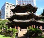 ウエスティン朝鮮ホテルの庭、円丘壇(ウォングダン)