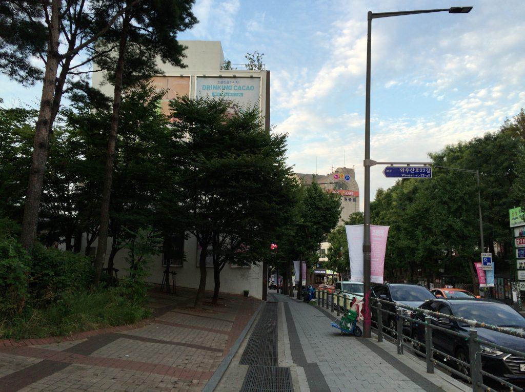 弘大(ホンデ)のピカソ通り