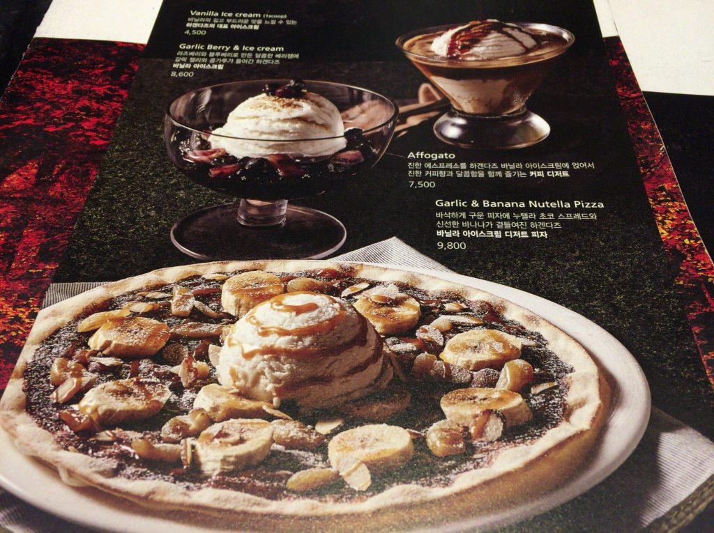 mad for garlic(マッドフォーガーリック)のニンニクチョコピザ